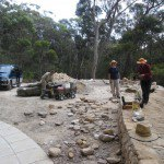 Kathrin wall and revegetation
