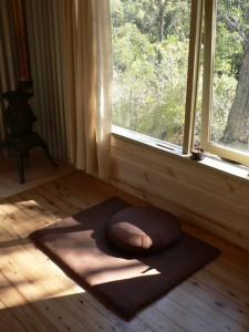 Inside a hut