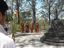 chanting flowers stupa